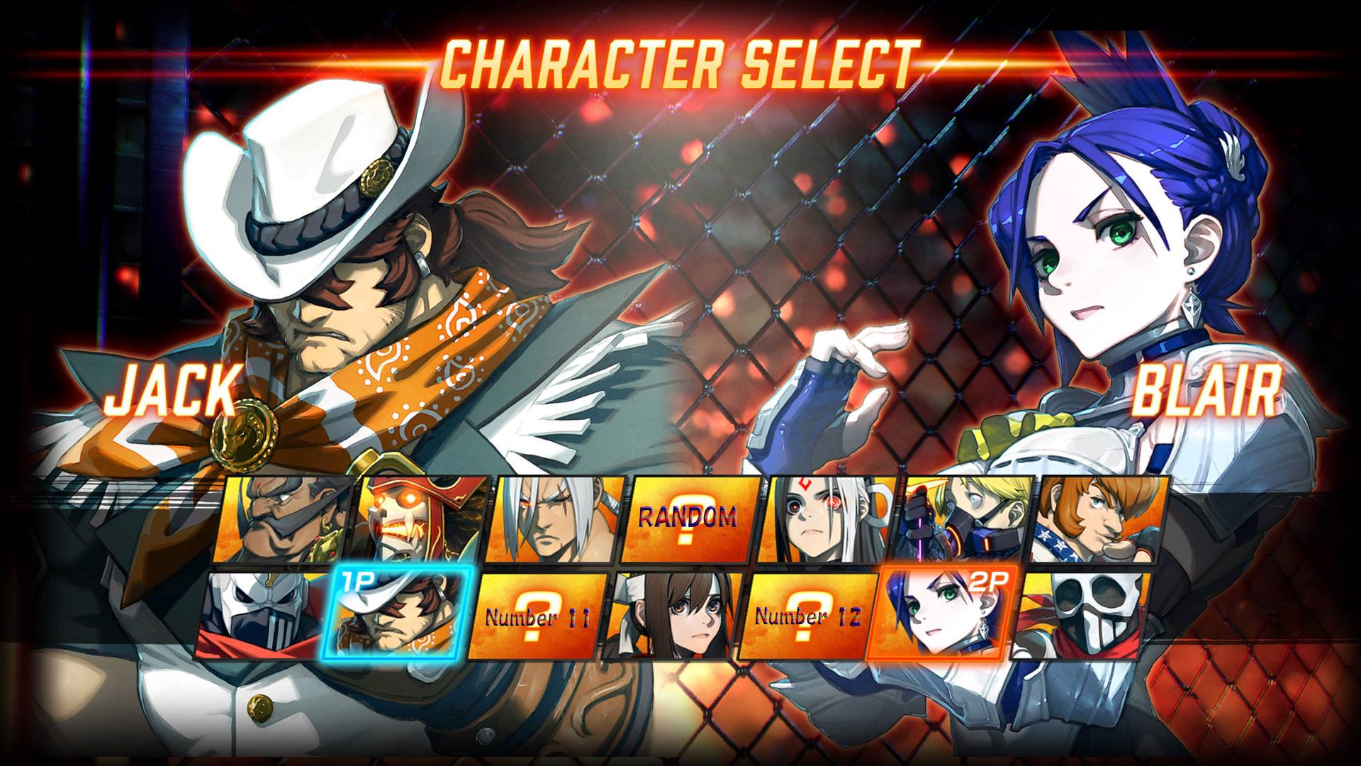 fighting game character select screen